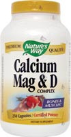 Calcium Magnesium & D Complex 250 Capsules From Nature's Way