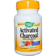 Activated Charcoal 100 Capsules From Nature's Way