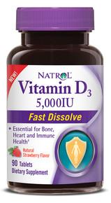 Vitamin D3 5000IU Fast Dissolve 90 TAB By Natrol