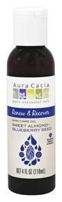 Body & Massage Oil Renew & Recover Sweet Almond + Blueberry Seed Oil 4 OZ By Aura Cacia