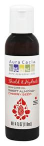 Body & Massage Oils Shield & Hydrate Sweet Almond + Cherry Seed Oil 4 OZ By Aura Cacia