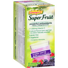 Emergen-C Super Fruit Triple Berry Blast 30 CT By Alacer