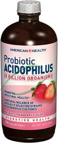 Acidophilus Natural Strawberry Flavor 16 oz From American Health
