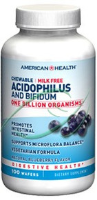 Acidophilus Chewable Blueberry 100 Wafers From American Health
