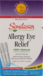 Monodose Eyedrops #2 Allergy Eyes 20 Dose Similasan