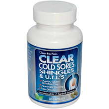 Clear Products Clear Cold Sores Shingles & U.T.I.'s 60 Capsules