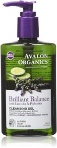 Brillian Balance Cleansing Gel with Lavender & Prebiotics 8 OZ By Avalon Organic Botanicals