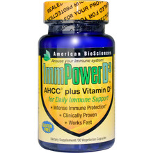 American Biosciences ImmPower D3 AHCC Plus Vitamin D3 30 Veggie Caps