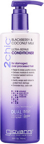 2chic Ultra Repair Conditioner with Blackberry & Coconut Milk Value Size 24 OZ By Giovanni Cosmetics