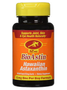 BioAstin Vegan Astaxanthin 12mg 50 SOFTGEL VEGI By Nutrex