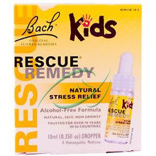 Bach Original Flower Essences Rescue Remedy for Kids Natural Stress Relief Alcohol-Free Formula 10 ml (0.35 fl oz) Dropper From Bach Flower Essence