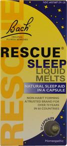Bach Flower Essences Rescue Sleep Liquid Melts 28 Cap