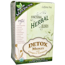 Functional Herbal Blends Detox Medley with Turmeric 20 BAG By Mate Factor
