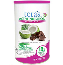 Active Nutrition Fair Trade Dark Chocolate 12.7 OZ By Tera'S Whey