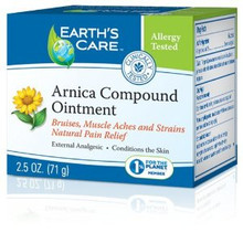 Earth's Care Arnica Compound Ointment 100% Natural 2.5 oz