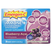 Alacer Emer'gen-C Immune+ System Support with Vitamin-Blueberry Acai 30 Packets