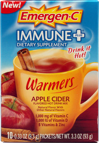 Emer'gen-C Immune + Warmers Apple Cider 10 CT From ALACER