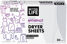 Dryer Sheets Unscented 80 CT By Better Life