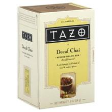 Chai, Decaffeinated, 6 of 20 BAG, Tazo