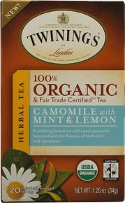 Camomile w/ Mint & Lemon, 6 of 20 BAG, Twinings