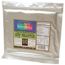 Spinach Green Soy Wrapper 3.5 oz  From Yama MotoYama