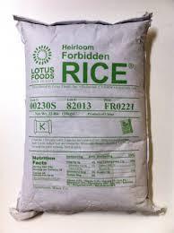 Forbidden Rice, China Black, 22 LB, Lotus Foods