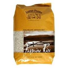 Jasmine Rice, White, 25 LB, Lotus Foods