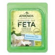 Feta Chunk, Reduced Fat, 12 of 6 OZ, Athenos