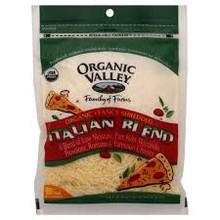 Italian Blend, 4 Cheeses Shrd, 12 of 6 OZ, Organic Valley