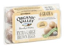 Brown, Extra Large, 12 of 6 CT , Organic Valley