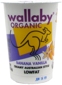 Banana Vanilla, 12 of 6 OZ, Wallaby Organic