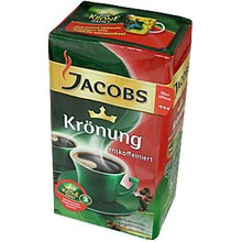 Jacobs Kronung Caffeine Free Ground German Coffee 17.64 oz  From Jacobs