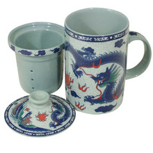 Blue Dragon Filter Tea Cup  From B&T Trading