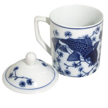 Blue Fish Tea Cup  From B&T Trading