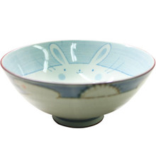 Blue Rabbit Rice Bowl 5 1/2'  From Kotobuki