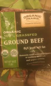 85% lean, Ground, Grass-Fed, 8 of 1 LB, Organic Prairie