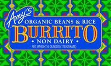 Burrito, Bean & Rice Diary Free, 12 of 6 OZ, Amy'S