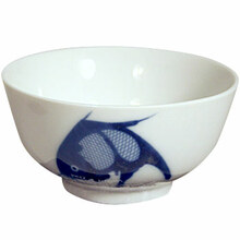 Blue Fish Rice Bowl 4.5'  From Misty Rose