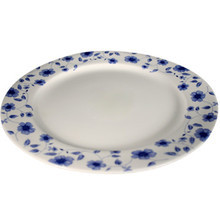Blue Flower Round Plate 10'  From AFG