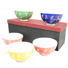 Colored Dragonfly Rice Bowls 4.25'  From AFG