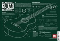 Classical Guitar Anatomy and Mechanics Wall Chart