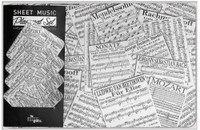 Sheet Music Place Mat and Coaster Set