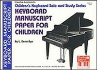Keyboard Manuscript Paper for Children