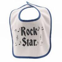 Rock n' Roll Baby Bib - Blue