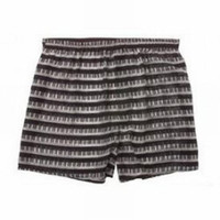 Keyboard Repeated Silk Boxer Shorts - XL**