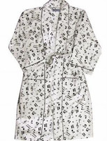 Flannel Robe Music Notes - One Size Fits All!
