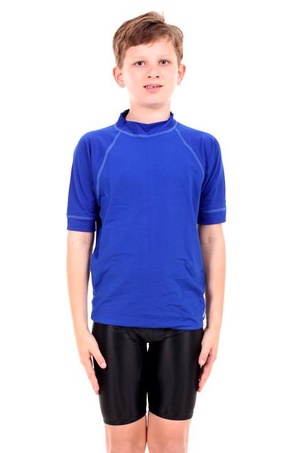 Unisex Childrens Short Sleeve Atlantic Chlorine Resistant Wetshirt