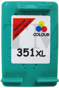 HP 351 XL Remanufactured Ink Cartridge - High Capacity Tri-Colour Ink Cartridge - Compatible For  (CB338EE, 351XL, CB338E)