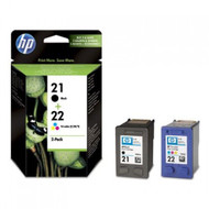 HP 21 XL & HP 22 XL Original Black & Tri-Colour Ink Cartridges Multipack - High Capacity 4 Colour Black / Cyan / Magenta / Yellow (C9351AE, C9352AE, SD367AE, HP21, HP22)
