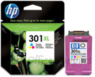 HP 301 XL Original Tri-Colour Ink Cartridge (CH564EE, HP 301XL, HPCH564EE)
